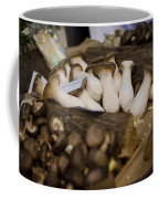 Mushrooms At The Market Coffee Mug by Heather Applegate