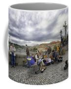 Musicians On The Charles Bridge - Prague Coffee Mug