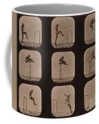 Muybridge Locomotion Of Man Jumping Coffee Mug by Photo Researchers