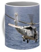 N Hh-60h Sea Hawk Helicopter In Flight Coffee Mug