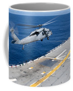 N Mh-60s Sea Hawk Helicopter Lifts Coffee Mug