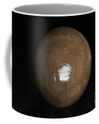 Nadir View Of The Martian South Pole Coffee Mug