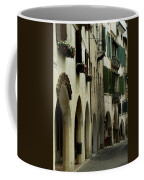 Narrow Road Lined By Shuttered Windows Coffee Mug by Todd Gipstein