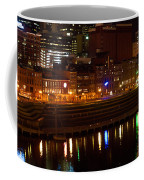 Nashville River Front By Night 1 Coffee Mug