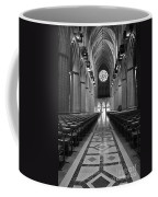 National Cathedral Interior Bw Coffee Mug