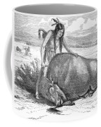 Native Amerians: Cutting Buffalo Coffee Mug