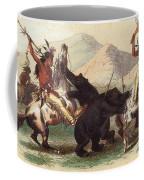 Native American Indian Bear Hunt, 19th Coffee Mug