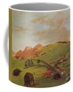 Native American Indians, Buffalo Chase Coffee Mug