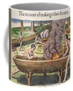 Native Americans: Canoe, 1590 Coffee Mug