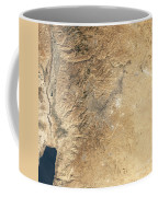 Natural-color Satellite View Of Amman Coffee Mug