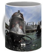 Navy Diver Wearing A Mk-20 Diving Mask Coffee Mug