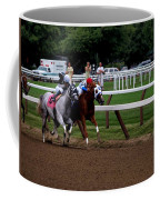 Neck And Neck At Saratoga Two Coffee Mug