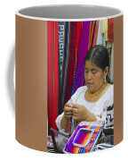 Needleworking Lady Coffee Mug