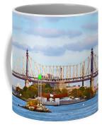 New York Bridge Water View Coffee Mug