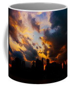 New York City Skyline At Sunset Under Clouds Coffee Mug
