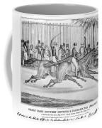 New York: Horse Race, 1845 Coffee Mug