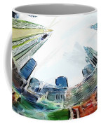New York Looking Up The Sky Coffee Mug