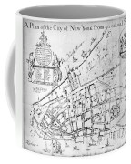 New York Map, 1730 Coffee Mug