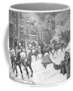 New York: Snowstorm, 1887 Coffee Mug