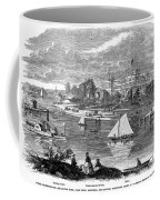 New York State: Hotel, 1862 Coffee Mug