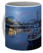 Newcastle Quayside At Night Coffee Mug