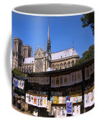 Newstand Next To Notre Dame Coffee Mug