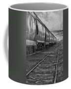 Next Tracks In Black And White Coffee Mug