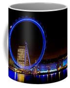 Night Image Of The London Eye And River Thames Coffee Mug