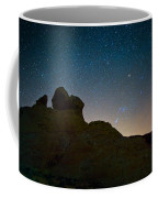 Night Sky Over Valley Of Fire Coffee Mug