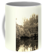 North Fork River In Sepia Coffee Mug