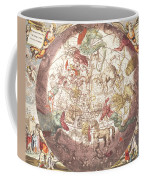 Northern Boreal Hemisphere From The Celestial Atlas Coffee Mug by Pieter Schenk