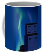 Northern Lights And Grain Elevator 2 Coffee Mug