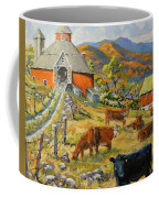 Nostalgia Cows Painting By Prankearts Coffee Mug