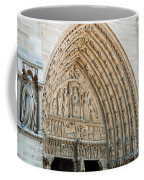 Notre Dame Cathedral Right Entry Door Coffee Mug