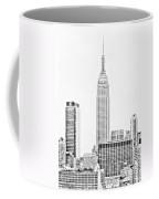 Ny Skyline - Black And White Coffee Mug