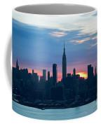 Ny Skyline Blue Dawn Coffee Mug
