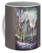 Nyc Central Park Controluce Coffee Mug by Ylli Haruni