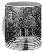 Oak Alley Monochrome Coffee Mug by Steve Harrington