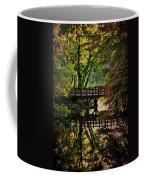 Oak Bridge In Fall Coffee Mug