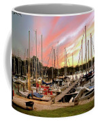 Oak Pt Harbor At Sunset Coffee Mug