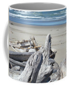 Ocean Beach Driftwood Art Prints Coastal Shore Coffee Mug