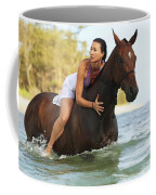 Ocean Horseback Rider Coffee Mug