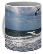 October Beach Kite Surfer Coffee Mug by Susanne Van Hulst