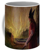 Odin Leaves As The Flames Rise Coffee Mug by H Hendrich