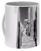 Oia Staircase Bw Coffee Mug