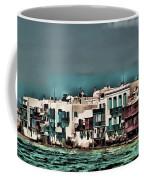 Oill Paint Effect Mykonos Greece Coffee Mug