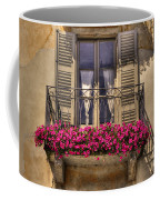 Old Balcony With Red Flowers Coffee Mug by Mats Silvan
