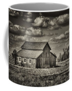 Old Barn After The Storm Black And White Coffee Mug