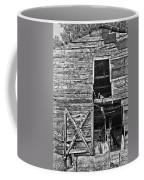 Old Barn Door In Black And White Coffee Mug