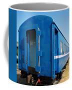 Old Blue Train Car Coffee Mug